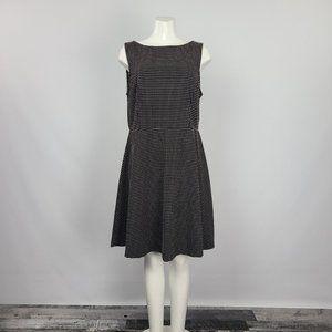 Merona Black Polka Dot Fit & Flare Dress Size M/L
